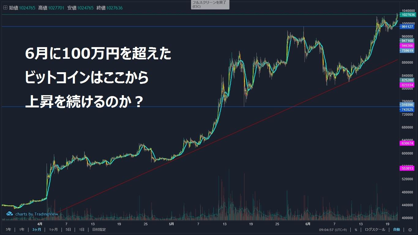100万を超えたビットコイン価格推移を徹底分析!~19年6月~